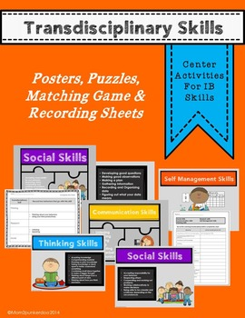IB Transdisciplinary Skills Posters and Center Activities