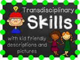 IB Transdisciplinary Skills with kid friendly descriptions and pictures
