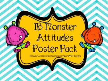 IB Trans Theme, Learner Profile, Key Concept, Attitudes BUNDLE~Monster Theme