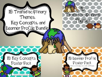 IB Themes, Learner Profiles, Key Concepts BUNDLE Chevron/Quatrefoil