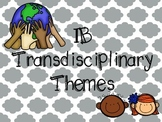 IB Transdisciplinary Theme Poster Pack in Chevron and Quatrefoil