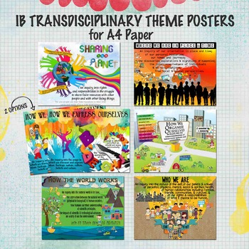 IB Transdisciplinary Theme Posters for A4 Paper