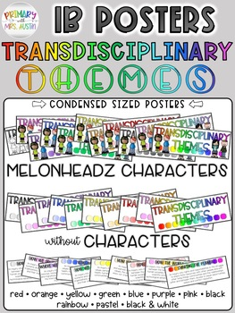 IB Transdisciplinary Themes Classroom Signs/Posters