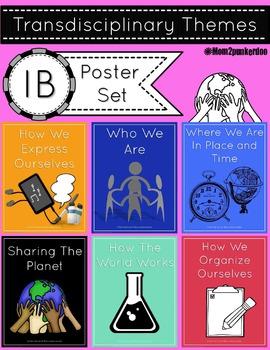 IB PYP Transdisciplinary Themes and Indicators Poster Set 2