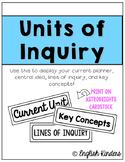 IB Unit of Inquiry Headers