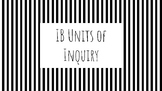 Black and White IB Units of Inquiry Posters