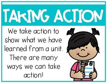 IB Ways to Take Action Poster Set