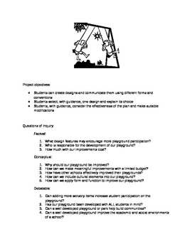 IB Year 2 Design Project- Build a Better Playground