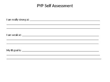 IB attribute assessment PYP