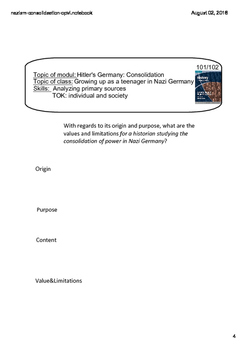 IB history - Nazi Germany - Consolidation - speech Hitler/Youth - SMARTnotebook