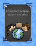 IB learner profile posters - In your own words - EDITABLE