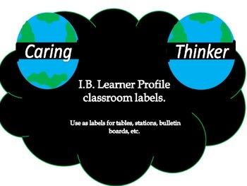 I.B. learner profile labels