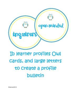 IB learner profiles bulletin set