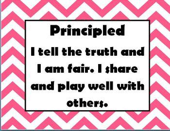 IB profile words pink chevron