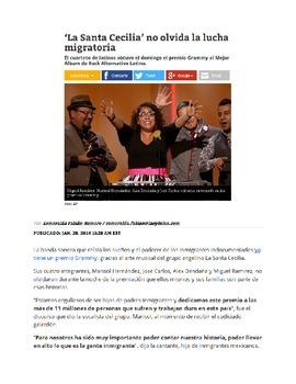IB/AP Spanish: Cuestiones globales/Desafíos mundiales -Inmigración -Canción