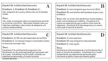 IB/AP Spanish: Cuestiones globales/Desafíos mundiales - Inmigración - Simulación