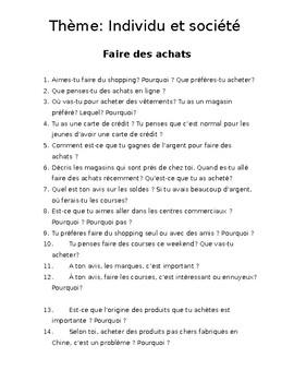 IBDP French Ab initio oral exam: Individu et société