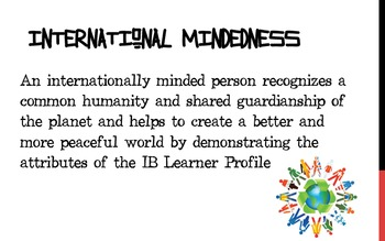 IBO International Mindedness Posters English/Spanish