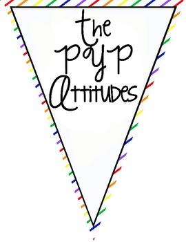 IB/PYP Attitudes Pennants