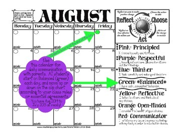 IB/PYP Owl Theme Clip Chart ~Essential Agreement Ideas ~EDITABLE 16/17 Calendars