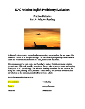 ICAO Aviation English test prep part A