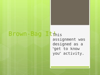 ICE-BREAKER Brown Paper Bag PowerPoint