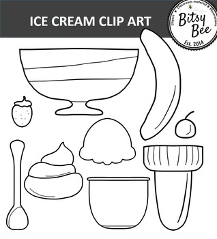 ICE CREAM HAPPY TIME CLIP ART.