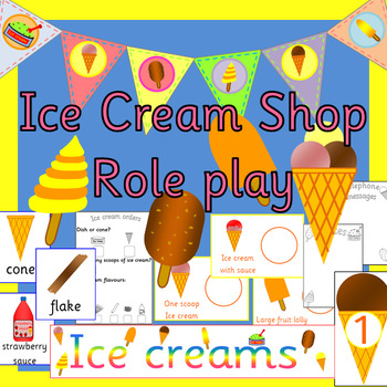 ICE CREAM SHOP role play- dramatic play, Ice cream Parlour