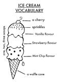 ICE CREAM VOCABULARY