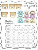 ICE CREAM WORD FAMILY MATCH (SHORT VOWELS)
