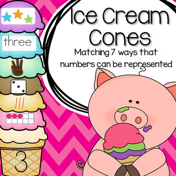 ICE CREAMS Matching Numbers 7 Different Ways
