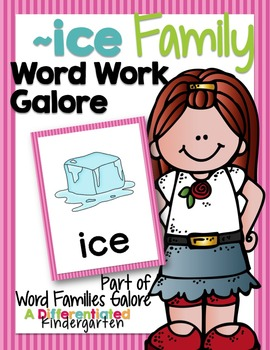 ~ICE Family Word Work Galore-Differentiated and Aligned