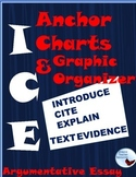 ICE Introduce Cite Explain Textual Evidence Anchor Charts Essay Organizer