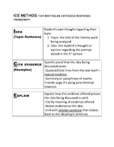 ICE Method Literary Extended Response Paragraph Unit