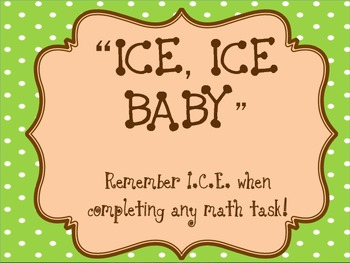 ICE strategy for the constructed response assessment for math