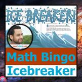 ICEBREAKER BINGO - Math-centered, appropriate for 1st thro