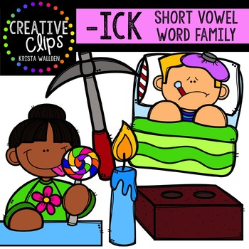 ICK Short I Word Family {Creative Clips Digital Clipart}