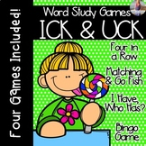 ICK and UCK [[Word Family GAMES!]]