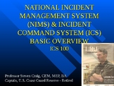 ICS 100 - An introduction to the Incident Command System