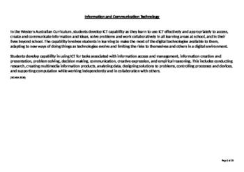 ICT Capabilities school plan