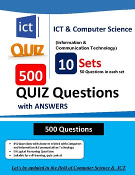 ICT & Computer Science 500 QUIZ Questions with    by Sushil
