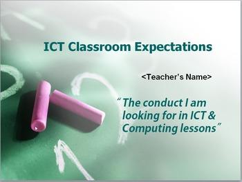 ICT / Computing Classroom Expectations (behaviour management, etc)