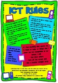 ICT/Technology Rules Poster