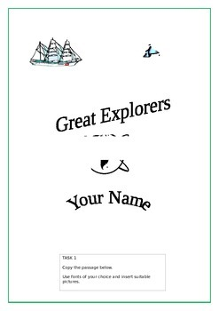 ICT Word Processing Tasks: Explorers