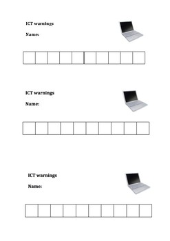 ICT warning hole punch cards