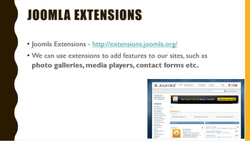 ICT/Computer Science. - Creating Websites with Joomla CMS. - EDITABLE