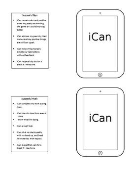 ICan Behavior Contract