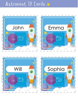 ID Cards - Space and Astronaut Theme