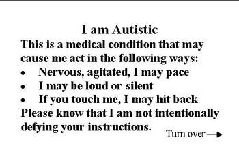ID Cards for Autism