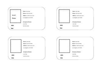 I.D./ Contact Cards
